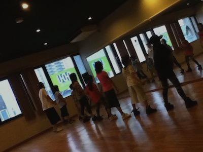 長野ダンスユニオン上田Studio内Lesson遠景