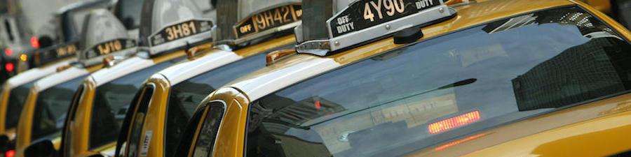 N.Y.Cのイエローキャブ車列