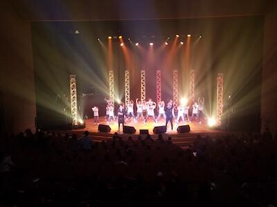 長野県民文化会館コンサート- エキストラダンス出演時ステージ